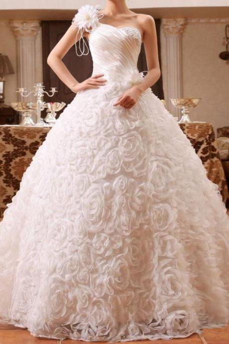 Wedding bridal dress lace flower evening prom party gown bead tulle custom made any size